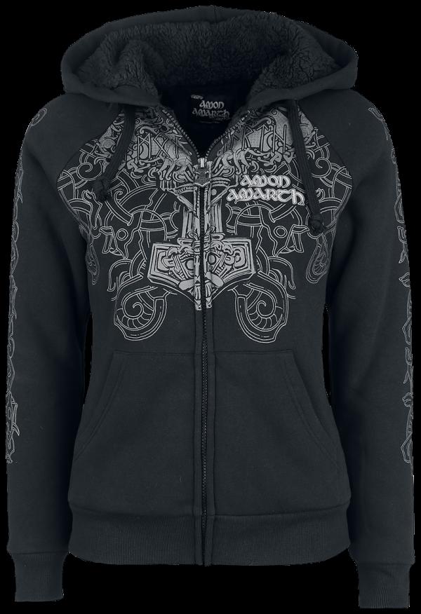 Amon Amarth - EMP Signature Collection - Girls hooded zip - black product image at Soundorabilia.com