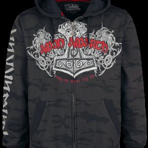 Amon Amarth - EMP Signature Collection - Hooded zip - grey-black product image at Soundorabilia.com