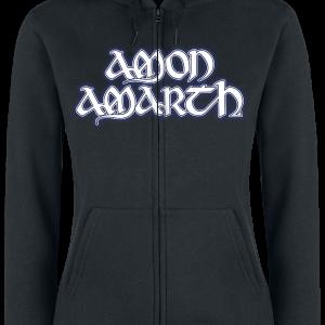 Amon Amarth - Raven's Flight - Girls hooded zip - black product image at Soundorabilia.com