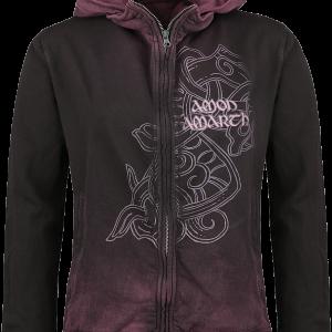 Amon Amarth - Viking Symbol - Girls hooded zip - wine red product image at Soundorabilia.com