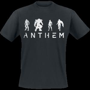 Anthem - White Out - T-Shirt - black product image at Soundorabilia.com