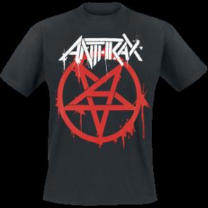 Anthrax - Graffiti Pentathrax - T-Shirt - black product image at Soundorabilia.com