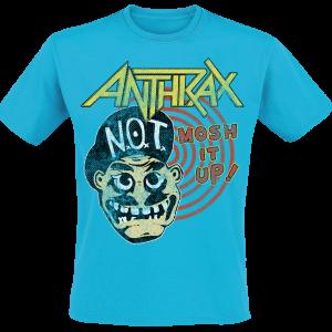 Anthrax - Mosh It Up - T-Shirt - blue product image at Soundorabilia.com
