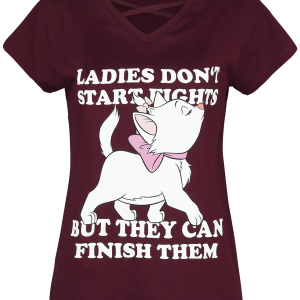 Aristocats - Marie - Ladies Don't Start Fights - Girls shirt - berry product image at Soundorabilia.com