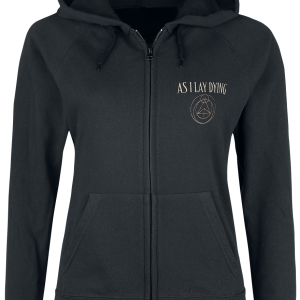 As I Lay Dying - Shaped By Fire - Girls hooded zip - black product image at Soundorabilia.com