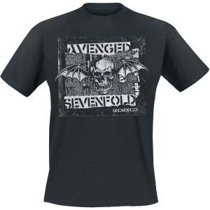 Avenged Sevenfold - Deathbat Newspaper - T-Shirt - black product image at Soundorabilia.com