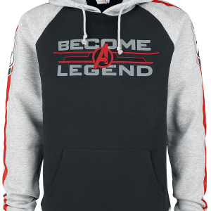 Avengers - Become A Legend - Hooded sweatshirt - black/mottled grey product image at Soundorabilia.com