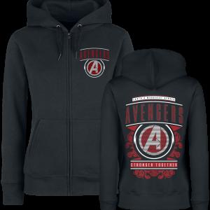 Avengers - Endgame - Stronger Together - Girls hooded zip - black product image at Soundorabilia.com