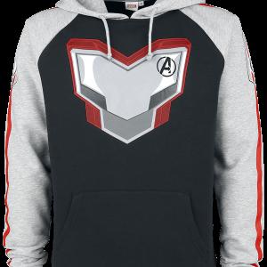 Avengers - Endgame - Uniform - Hooded sweatshirt - black/mottled grey product image at Soundorabilia.com