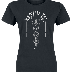 Babymetal - Black Skull Sword - Girls shirt - black product image at Soundorabilia.com