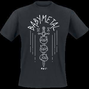 Babymetal - Skull Sword - T-Shirt - black product image at Soundorabilia.com