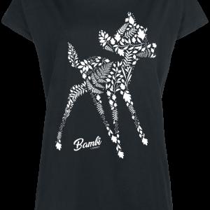Bambi - Botanics - Girls shirt - black product image at Soundorabilia.com