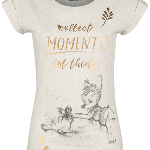 Bambi - Collect Moments Not Things - Girls shirt - mottled cream product image at Soundorabilia.com