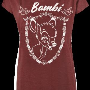 Bambi - Crest - Girls shirt - mottled red product image at Soundorabilia.com