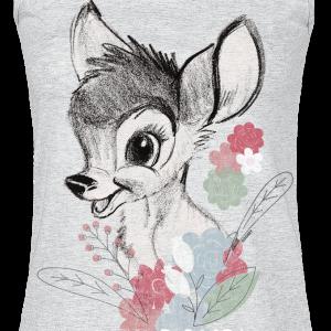 Bambi - I Heart Bambi - Girls Top - mottled grey product image at Soundorabilia.com