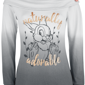 Bambi - Naturally Adorable - Girls hooded zip - grey product image at Soundorabilia.com