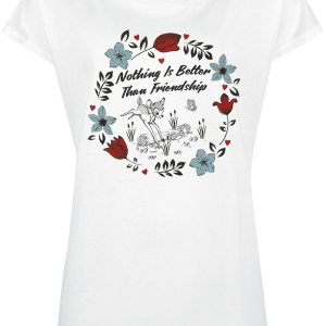 Bambi - Nothing Is Better Than Friendship - Girls shirt - white product image at Soundorabilia.com