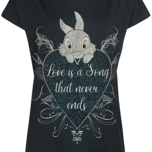 Bambi - Thumper - Love Is A Song - Girls shirt - black product image at Soundorabilia.com