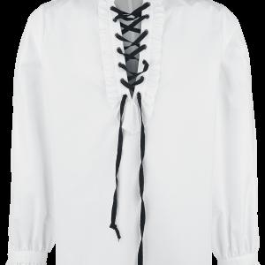 Banned - Frilled Shirt with Lacing - Shirt - white product image at Soundorabilia.com