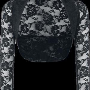 Banned - Lace Bolero - Bolero - black product image at Soundorabilia.com