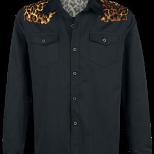Banned - Leo Panel - Shirt - black-leopard product image at Soundorabilia.com