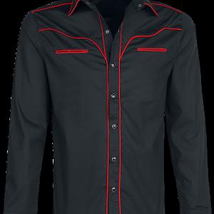 Banned - Plain Trim - Shirt - black-red product image at Soundorabilia.com