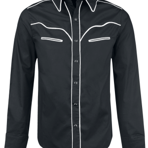 Banned - Plain Trim - Shirt - black-white product image at Soundorabilia.com