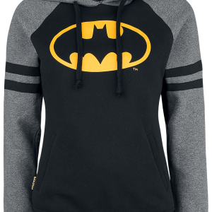 Batman - Bat-Logo - Girls hooded sweatshirt - black-yellow product image at Soundorabilia.com