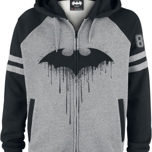 Batman - Bat-Logo - Hooded zip - mixed grey-black product image at Soundorabilia.com