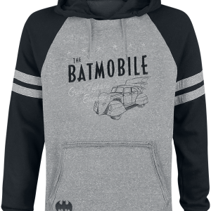 Batman - Batmobile - Hooded sweatshirt - mixed grey-black product image at Soundorabilia.com