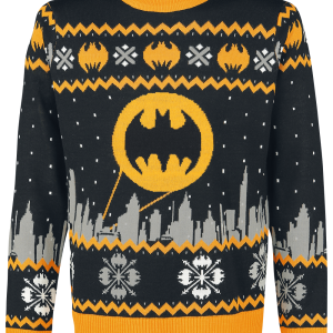 Batman - Gotham - Sweater - black-grey-yellow product image at Soundorabilia.com