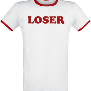 Beck - Loser - T-Shirt - white-red product image at Soundorabilia.com