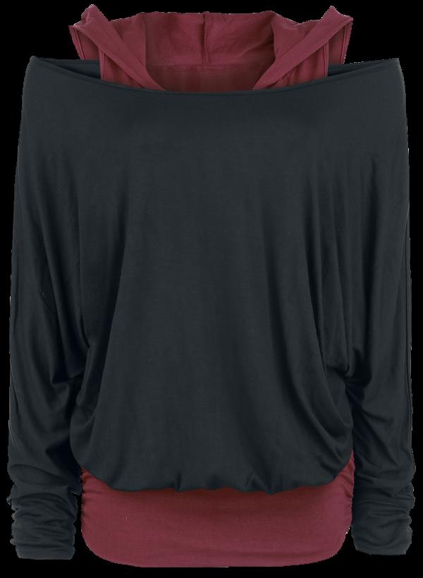 Black Premium by EMP - Get Loose - Girls longsleeve - black-bordeaux product image at Soundorabilia.com