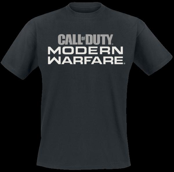 Call Of Duty - Modern Warfare - Logo - T-Shirt - black product image at Soundorabilia.com