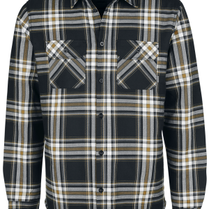 Chet Rock - Flannel Thermo-Shirt - Shirt - black-white product image at Soundorabilia.com