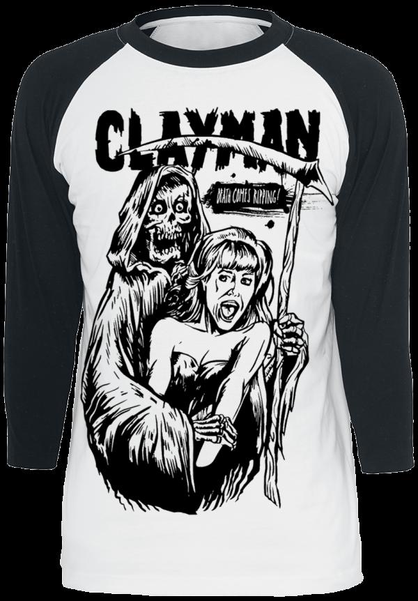 Clayman Ltd. - Reaper - Longsleeve - white/black product image at Soundorabilia.com