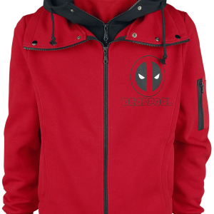 Deadpool - Face - Hooded zip - black product image at Soundorabilia.com