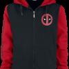 Deadpool -  - Hooded zip - black-red product image at Soundorabilia.com