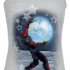 Deadpool - Moon - Girls Top - mottled grey product image at Soundorabilia.com
