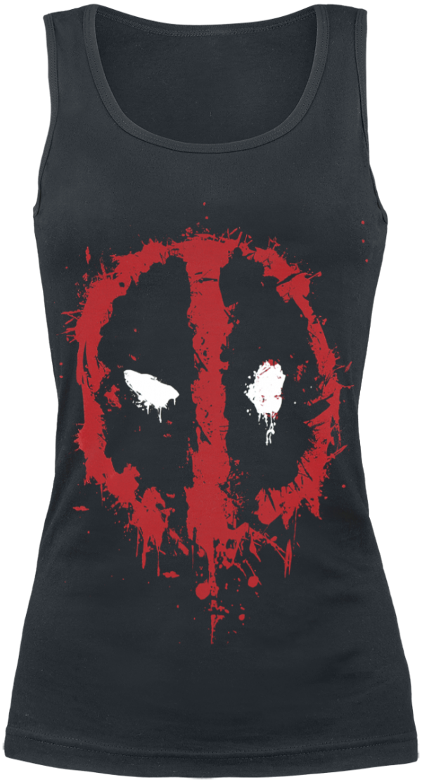 Deadpool - Splatter Logo - Girls Top - black product image at Soundorabilia.com