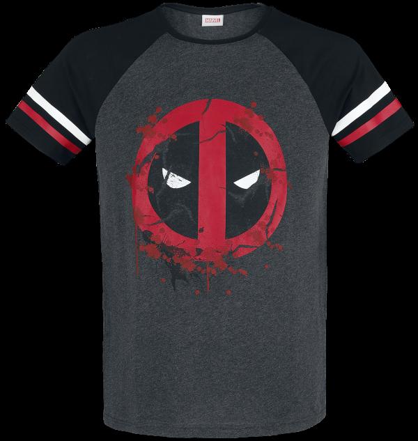 Deadpool - Symbol - T-Shirt - mixed grey-black product image at Soundorabilia.com