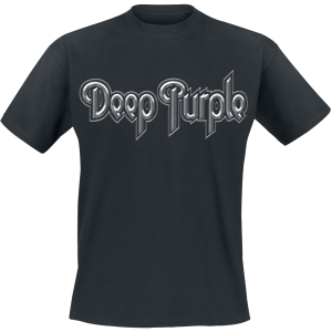 Deep Purple - Silver Logo - T-Shirt - black product image at Soundorabilia.com