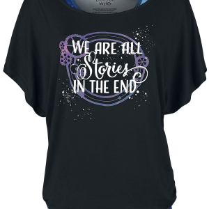 Doctor Who - All Stories In The End - Girls shirt - black-multicolour product image at Soundorabilia.com