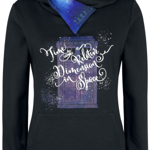 Doctor Who - Time And Relative Dimension In Space - Hooded sweatshirt - black product image at Soundorabilia.com