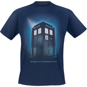 Doctor Who - Time And Relative Dimension In Space - T-Shirt - navy product image at Soundorabilia.com