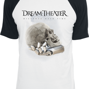 Dream Theater - Distance Over Time - T-Shirt - white-black product image at Soundorabilia.com
