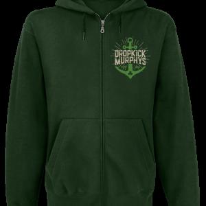 Dropkick Murphys - Anchor Admat Green - Hooded zip - dark green product image at Soundorabilia.com