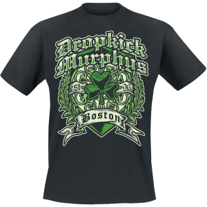Dropkick Murphys - Boston Irish Heart - T-Shirt - black product image at Soundorabilia.com