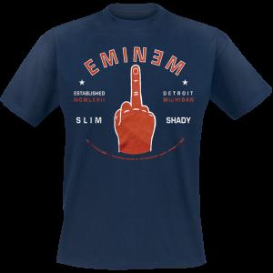 Eminem - Detroit Finger - T-Shirt - navy product image at Soundorabilia.com