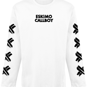 Eskimo Callboy - Scratched X - Longsleeve - white product image at Soundorabilia.com